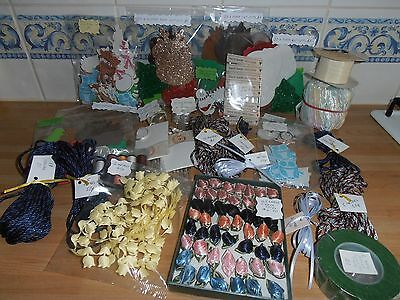 Bundle ex craft fayre supplies. Mixed items card making, sewing, general craft