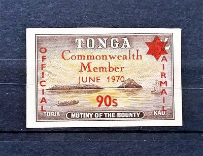 Tonga 1970 Official Air Mail Overprint Unmounted Mint. Imperf.