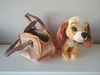 Disney Lady And The Tramp Soft Toy Dog In Bag