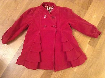 Girls Red Coat Jacket age 4-5 years Next