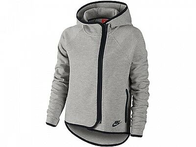 Nike Tech Fleece Cape Full-Zip Hoodie Girls Grey Size M 137-146cm Age 10-12 yrs
