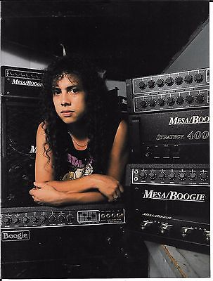 Mesa/Boogie Bass - Kirk Hammett of Metallica - 1989 Print Advertisement