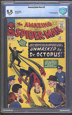 Amazing Spider-Man #12 Cbcs 5.5! Doctor Octopus!  White Pages!
