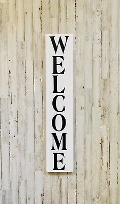"""Large Rustic Wood Sign - """"Welcome"""" 3 Ft Tall! Fixer Upper, Porch Decor, Home"""