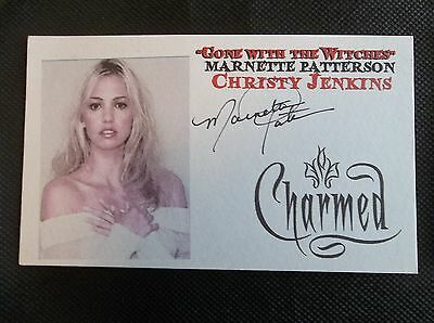 """""""Charmed"""" Marnette Patterson Autographed 3x5 Index Card"""