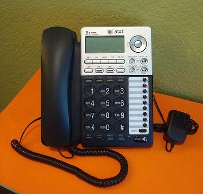 AT&T ML17939 2-LINE CORDED PHONE ANSWERING SYSTEM w/CALLER ID/CALL WAITING
