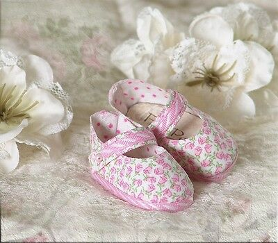 "FOOT PETALS CUSTOM Doll Shoes #23 for 13"" Effner Little Darling, Tonner Patsy"