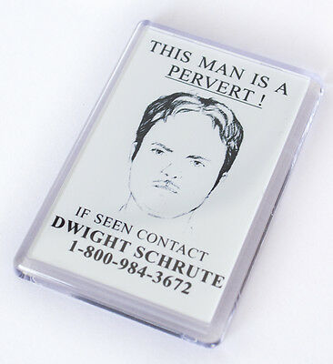 The Office Dwight Schrute Pervert Fridge Magnet