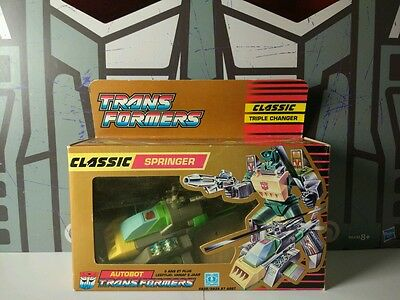 Transformers G1 Classic Springer with box and manual