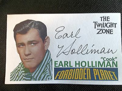 """""""Forbidden Planet"""" """"The Twilight Zone"""" Earl Holliman Autographed 3x5 Index Card"""