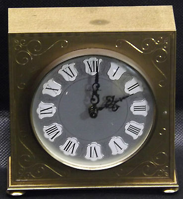 Seth Thomas Mantle Clock Scotland Movement Scroll Etched Brush Brass Gold Silver