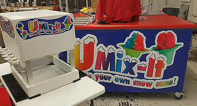 Shaved Ice/ Snow Cone Concession Cart Flavor Station