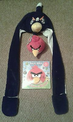 Angry Birds Snood Hat Scarf Gloves Soft Toy Book Hand Puppet Red Bird Rescue New
