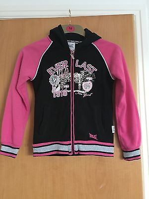 Girls Pink & Black Everlast Hoodie, age 9-10, used condition