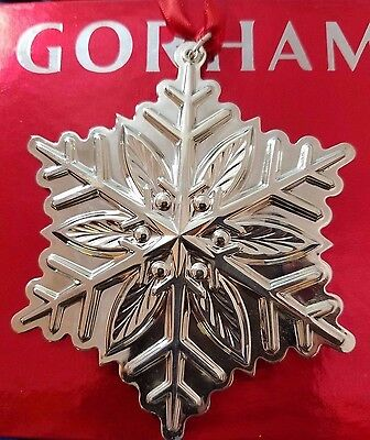 2012 Gorham Sterling Silver Snowflake Ornament New in Box