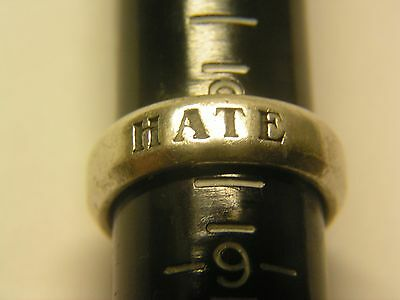 Room 101 Ring, Sterling,  Matt Booth (Chrome) Hate !! Rare Hearts This Reduced!!
