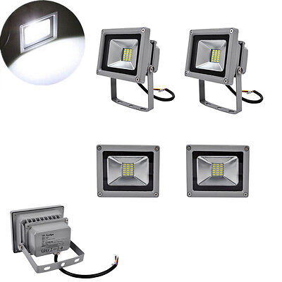 4x 20W LED SMD Flood Light Cool White Outdoor Security Garden Floodlight 85-265V