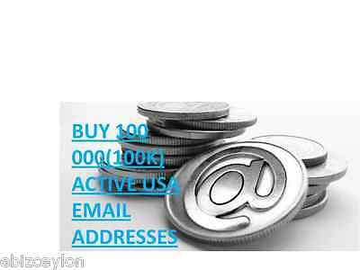 Buy 100 000(100K) Active Usa Email Addresses For Email Marketing