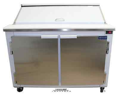 "Coolman Commercial 2 Door Refrigerated Sandwich Prep Table 48""(BACK MOTOR)"