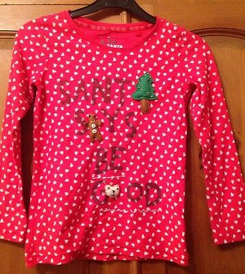 Next Girls Christmas Top Jumper Age 9 Years