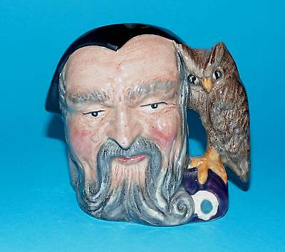 ROYAL DOULTON  character Jug ' Merlin ' wizard D6543 1ST  Quality