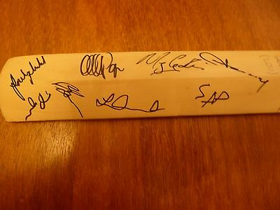 MINIATURE CRICKET BAT SIGNED, SUSSEX vs GLOUCESTERSHIRE at  ARUNDEL 2011