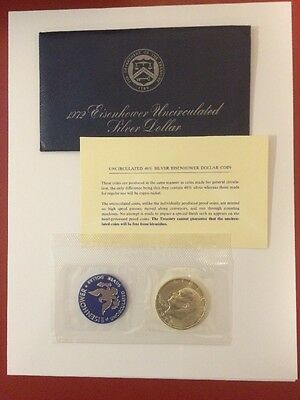 1972-S Eisenhower Uncirculated Silver Dollar 40% silver