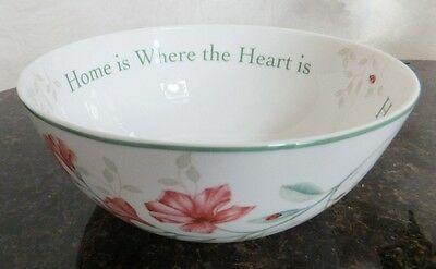NEW Lenox Butterfly Meadow Home Is Where The Heart Is Serving Bowl, Sentiment