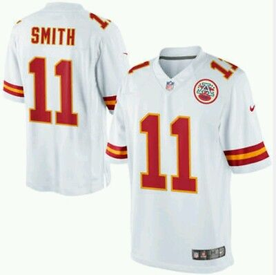 NFL Jersey Men's Size Large Kansas City Chiefs Smith White