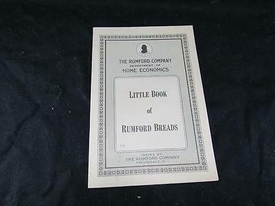 """TC  The Rumford Company Department of Home Economics """" Little Book of R. Breads"""""""