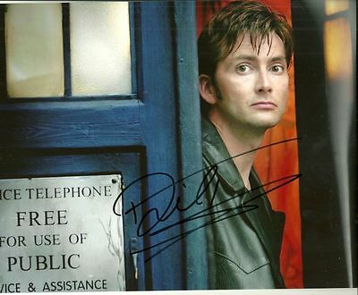 DAVID TENNANT   is a  8 BY 10 INCH AUTOGRAPHED PICTURE WITH A COA