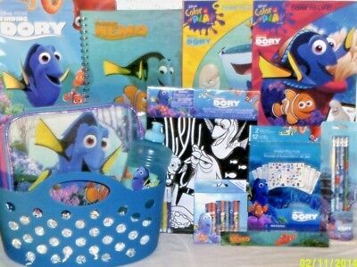 NEW FINDING NEMO DORY EASTER TOY GIFT BASKET TOYS school supplies PLAYSET