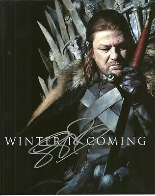 GAME OF THRONES SEAN BEAN   is a  8 BY 10 INCH AUTOGRAPHED PICTURE WITH A COA
