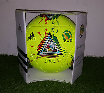 BNIB Adidas Katlego Official Match Ball Orange Africa Cup of Nations 2013 Rare