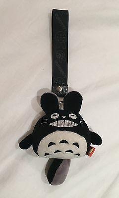Kawaii Totoro Key Chain In Grey And Black Japanese Anime Character