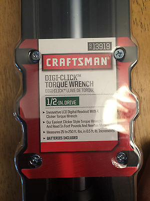 Craftsman Digi-click torque wrench 1/2 inch NEW