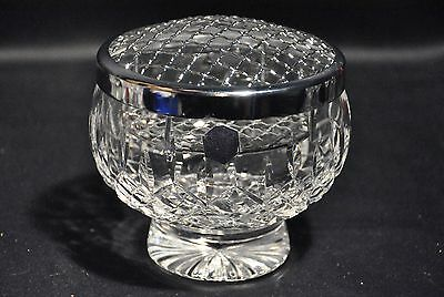 Stuart Shaftsbury Pattern Lead Crystal Cut Glass Rosebowl Signed + Label