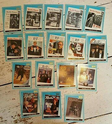 Doctor Who - Radio Times 1 to 17 card chase set - Strictly Ink (Mint condition)