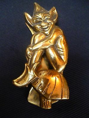 Vintage Brass Pixie Door Knocker