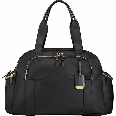 Tumi Voyageur Vallarta Black Gold Carry-on Bag Carry-All Tote Laptop