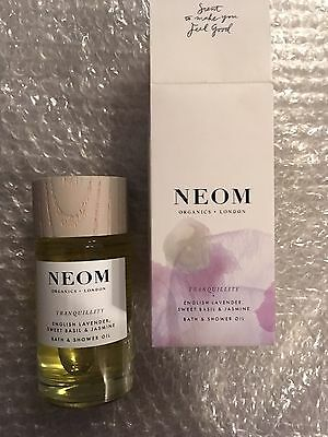 Neom Tranquility English Lavender, Sweet Basil & Jasmine Bath & Shower Oil