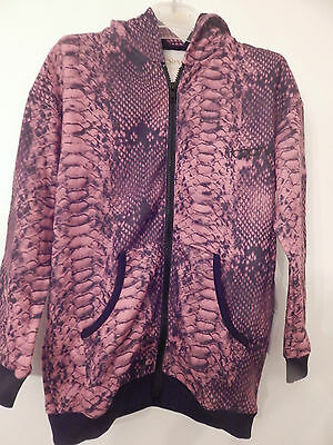 Bnwt Happiness 10 Soft Pink Snake Hoody Age 7-12  100% Cotton Generous Size