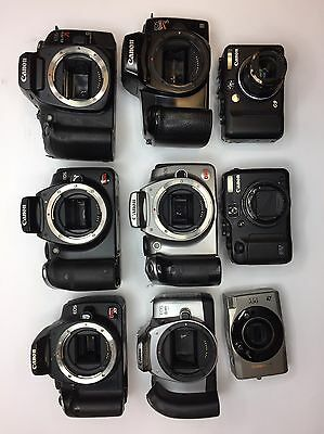 Canon Cameras Lot-4 For Parts
