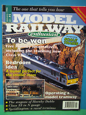 Model Railway Enthusiast January 1996 # Model Tramway ~ Hornby Dublo   See Pics