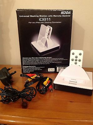 KODA Universal Docking Station with Remote Control iD811 In White