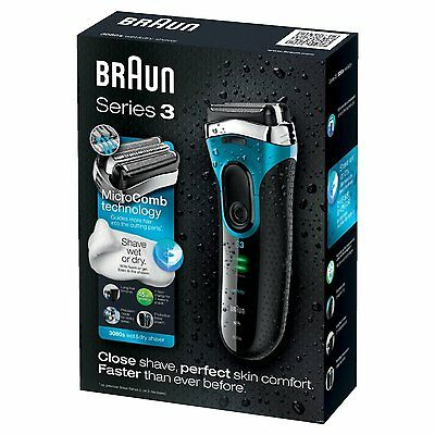 Braun Series 3 3080 Men's Electric Foil Shaver, Wet and Dry, Rechargeable and Co