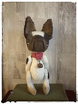 Artist Jointed Mohair Bear Old Vintage Antique Style French Bulldog