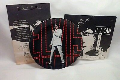 """Elvis Presley 5th Issue DELPHI plate """"If I can Dream"""" In Performance Collection"""