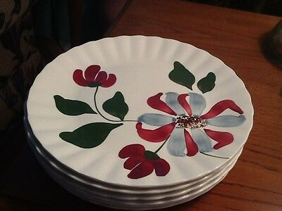 Blue Ridge WHIRLIGIG Dinner Plates Southern Potteries 6 available