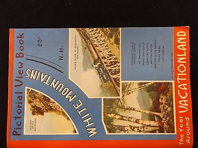 1950's Vintage White Mountains New Hampshire Pictorial View Book Over 60 Pages